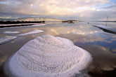 san francisco bay stock photography | California, San Francisco Bay, Cargill salt ponds near Newark, image id 1-770-52