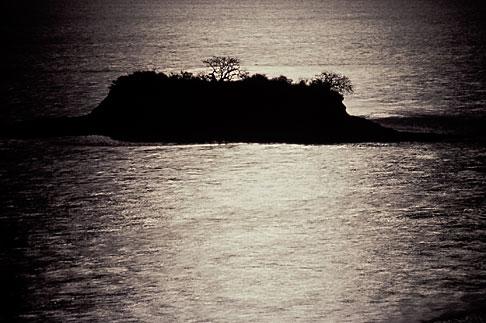 image 1-780-6 California, San Francisco Bay, San Rafael, Rat Island in moonlight