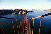 suspension bridge stock photography | California, San Francisco, Marin Headlands from Golden Gate Bridge tower, image id 1-80-82