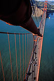 high angle view stock photography | California, San Francisco, Golden Gate Bridge from South tower, image id 1-81-23