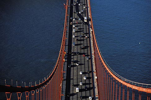 1-81-41 stock photo of California, San Francisco, Golden Gate Bridge from South tower