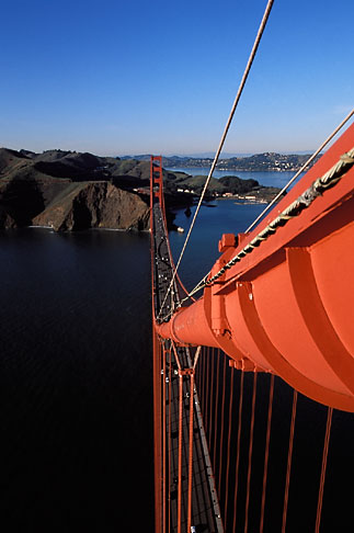 image 1-81-5 California, San Francisco, Golden Gate Bridge from South tower