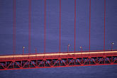 suspension bridge stock photography | California, San Francisco, Golden Gate Bridge at night from Marin Headlands, image id 1-81-72