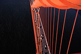 golden gate bridge cables stock photography | California, San Francisco, Golden Gate Bridge from South tower, image id 1-81-82