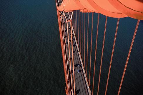 image 1-81-83 California, San Francisco, Golden Gate Bridge from South tower
