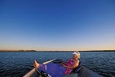 little stock photography | California, Delta, Little Potato Slough, Boating at sunset, image id 1-856-40