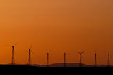 orange light stock photography | California, Solano County, Collinsville, Montezuma Hills, wind turbines, image id 1-858-69