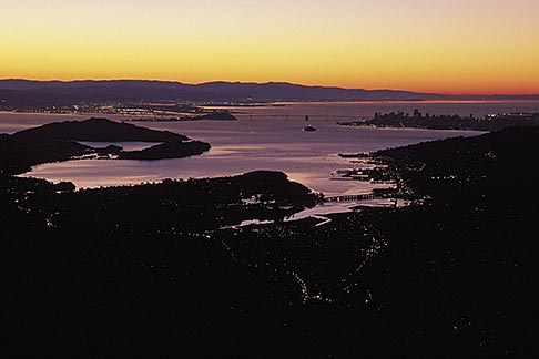 image 1-862-94 California, San Francisco Bay, San Francisco at sunrise from Mount Tamalpais
