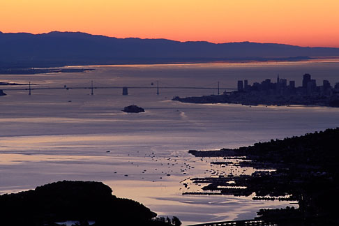 image 1-97-12 California, San Francisco Bay, Sunrise over San Francisco
