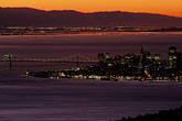 san francisco skyline from the water stock photography | California, San Francisco Bay, Sunrise over San Francisco, image id 1-97-20
