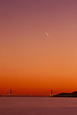 crossing stock photography | California, San Francisco Bay, Golden Gate Bridge at sunset, image id 2-152-20