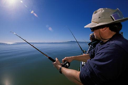 image 2-221-23 California, San Francisco Bay, Sturgeon Fishing, San Pablo Bay
