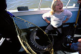 one girl only stock photography | California, San Francisco Bay, Sturgeon Fishing, San Pablo Bay, image id 2-221-31