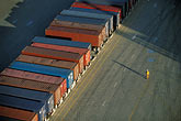 one person stock photography | California, Oakland, Port of Oakland, Hanjin Terminal , image id 2-225-68