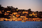 hill town stock photography | California, Marin County, Sausalito, hillside at dawn, image id 2-230-69