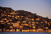 hill town stock photography | California, Marin County, Sausalito, hillside at dawn, image id 2-230-70