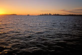sunrise stock photography | California, San Francisco Bay, San Francisco skyline from the water, image id 2-230-73