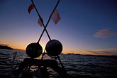 at dusk stock photography | California, San Francisco Bay, Herring Boat at dawn, image id 2-233-32