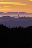 evening stock photography | California, Marin County, San Francisco and hills from Mount Tamalpais, image id 2-236-17