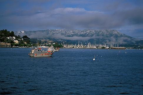 image 2-236-31 California, Marin County, Sausalito and snow capped Mount Tamalpais