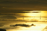 yellow stock photography | California, Marin County, Bay Bridge and fog from Mount Tamalpais, image id 2-236-35