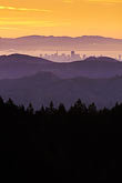 evening stock photography | California, Marin County, San Francisco and hills from Mount Tamalpais, image id 2-236-50