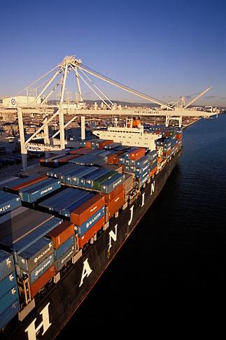image 2-238-46 California, Oakland, Port of Oakland, Hanjin Terminal