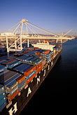 unload stock photography | California, Oakland, Port of Oakland, Hanjin Terminal , image id 2-238-46