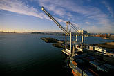unload stock photography | California, Oakland, Port of Oakland, Hanjin Terminal , image id 2-238-55