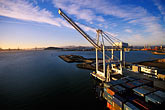 unload stock photography | California, Oakland, Port of Oakland, Hanjin Terminal , image id 2-238-81