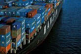 cargo stock photography | California, Oakland, Port of Oakland, Hanjin Terminal , image id 2-239-19