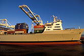 cargo stock photography | California, Oakland, Port of Oakland, APL Terminal , image id 2-239-28