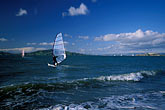 one person stock photography | California, San Francisco Bay, Windsurfing off Crissy Field Beach, image id 2-395-46
