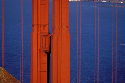 image 2-452-31 California, Marin County, Golden Gate Bridge and Marin Headlands