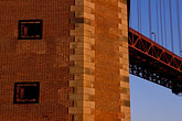 golden gate bridge cables stock photography | California, San Francisco, Fort Point, GGNRA, image id 2-610-87