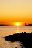 yellow stock photography | California, San Francisco Bay, Golden Gate Bridge at sunset, from Albany, image id 3-2-27