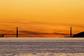 nobody stock photography | California, San Francisco Bay, Golden Gate Bridge at sunset, image id 3-3-9