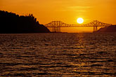 carquinez bridge at sunset stock photography | California, Benicia, Carquinez Bridge at sunset, image id 4-206-29