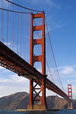 crossing stock photography | California, San Francisco, Golden Gate Bridge from Fort Point, GGNRA, image id 4-504-26