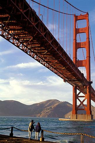 image 4-504-33 California, San Francisco, Golden Gate Bridge from Fort Point