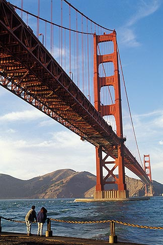 image 4-504-35 California, San Francisco, Golden Gate Bridge from Fort Point, GGNRA