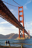 two people stock photography | California, San Francisco, Golden Gate Bridge from Fort Point, GGNRA, image id 4-504-35
