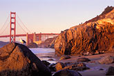rock stock photography | California, San Francisco, Golden Gate Bridge from Baker Beach, image id 4-528-9