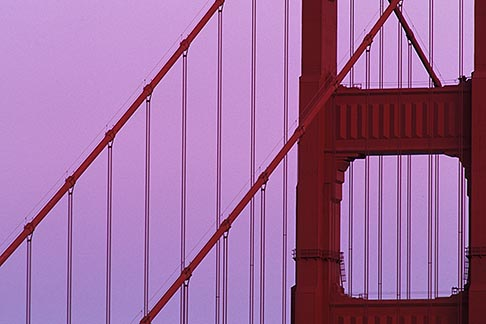 5-311-36  stock photo of California, Marin County, Golden Gate Bridge, north tower