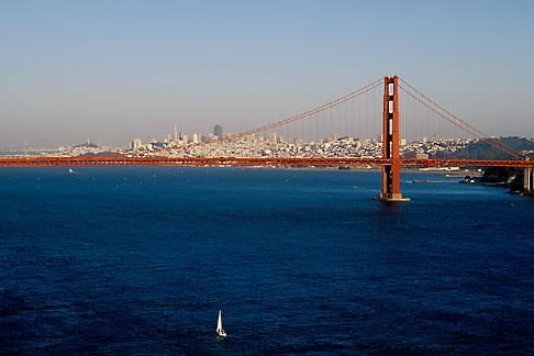 image 5-365-32 California, San Francisco Bay, Golden Gate Bridge from Marin Headlands