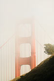 slant stock photography | California, San Francisco Bay, Golden Gate Bridge in fog, image id 5-740-67