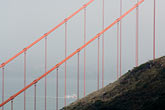cloudy stock photography | California, San Francisco Bay, Golden Gate Bridge in the fog, image id 5-740-77