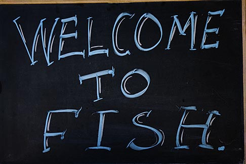 image 5-745-92 Signs, Welcome to Fish