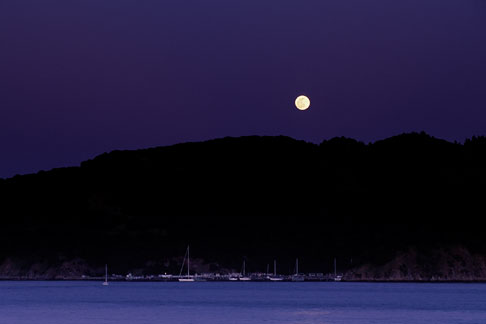 image 6-163-12 California, Marin County, Moonrise over Angel Island, Angel Island State Park