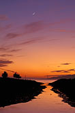 crescent moon stock photography | California, East Bay, Sunset, Point Isabel, image id 6-279-15